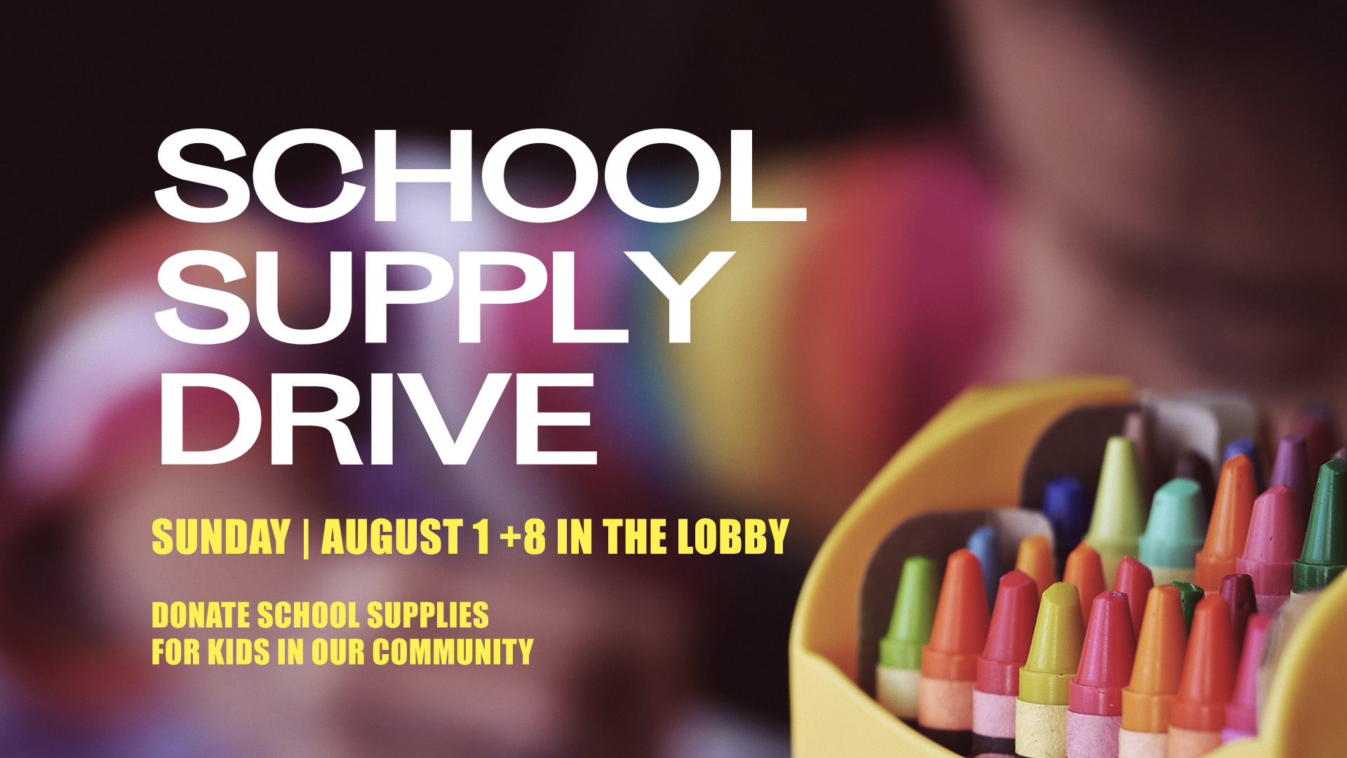 School Supply Drive at the Spartanburg campus