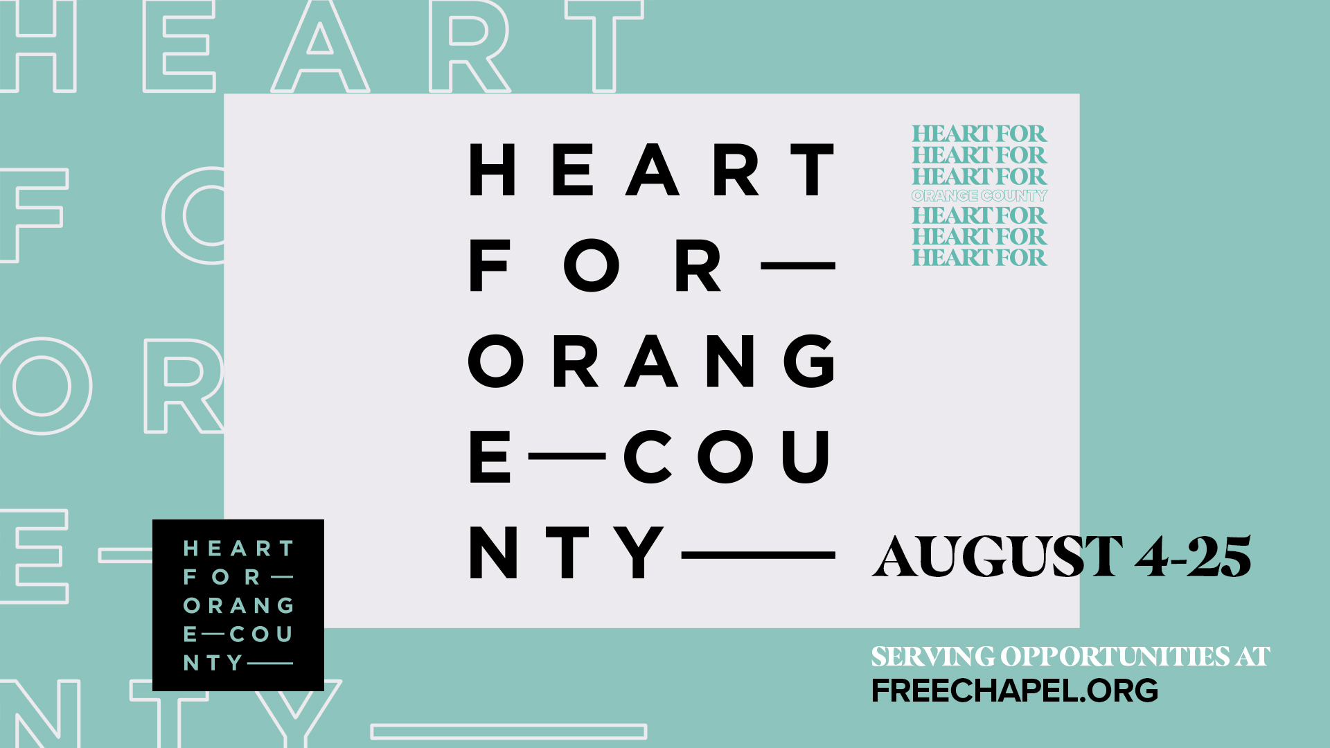 Heart For OC at the Orange County campus