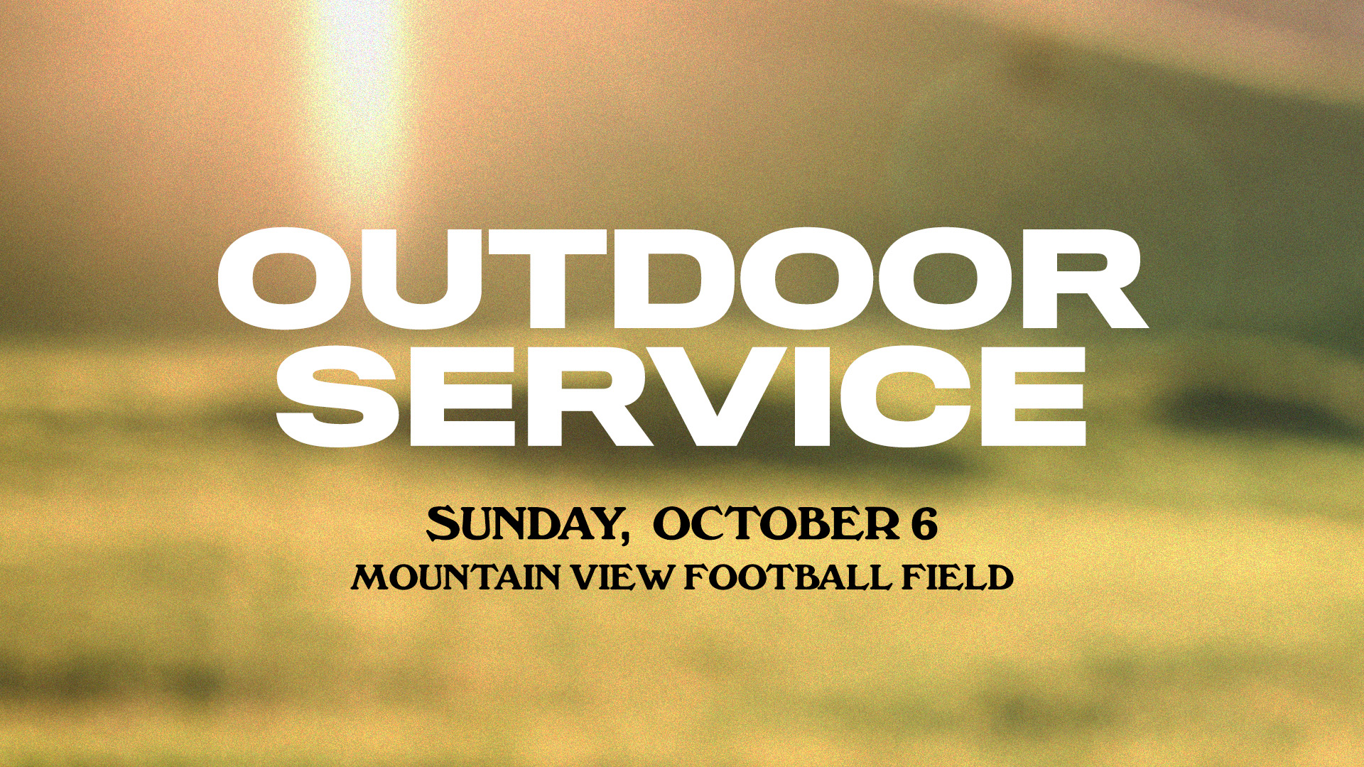 Outdoor Service at the Buford campus