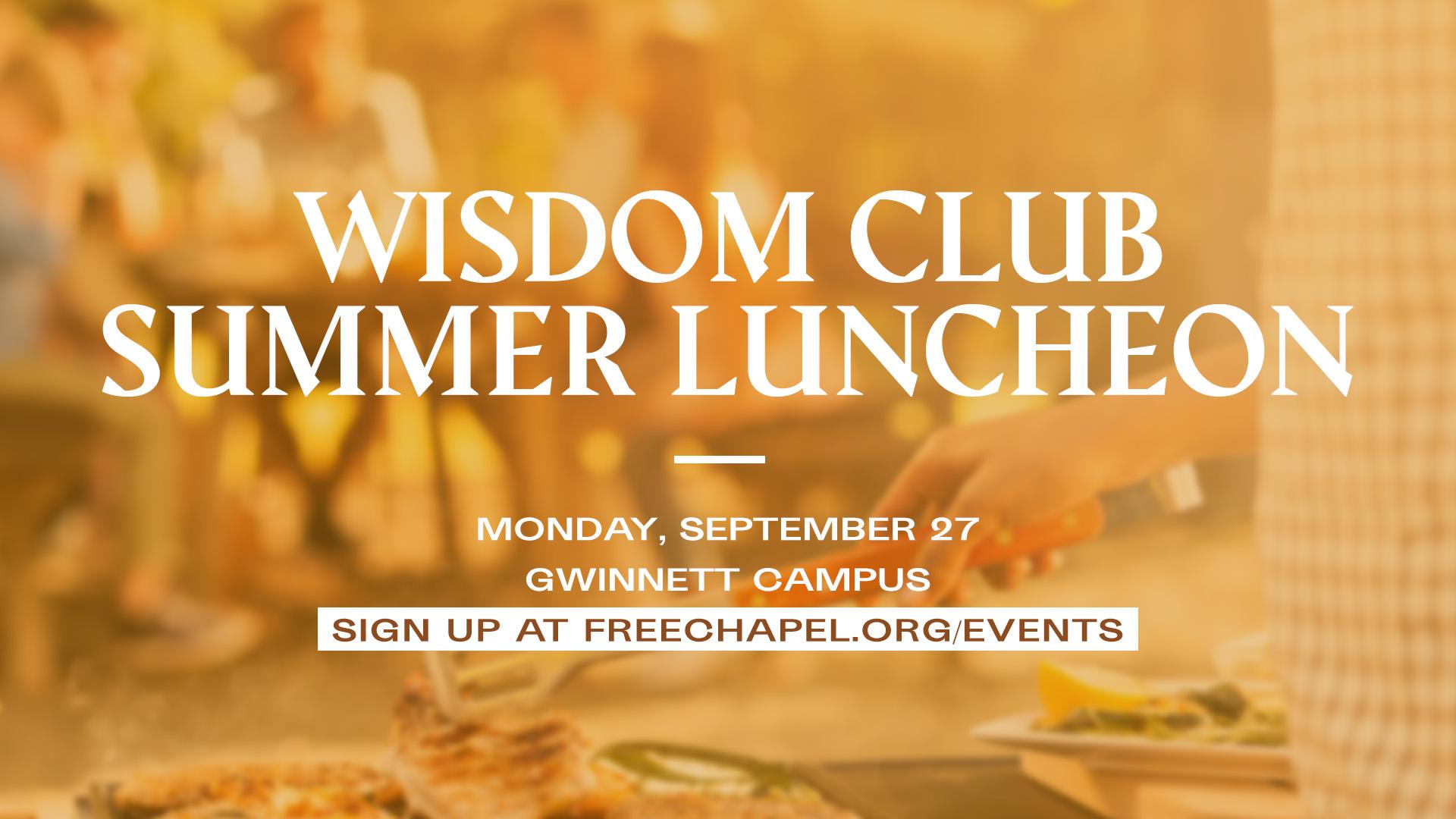Wisdom Club Luncheon at the Gwinnett campus