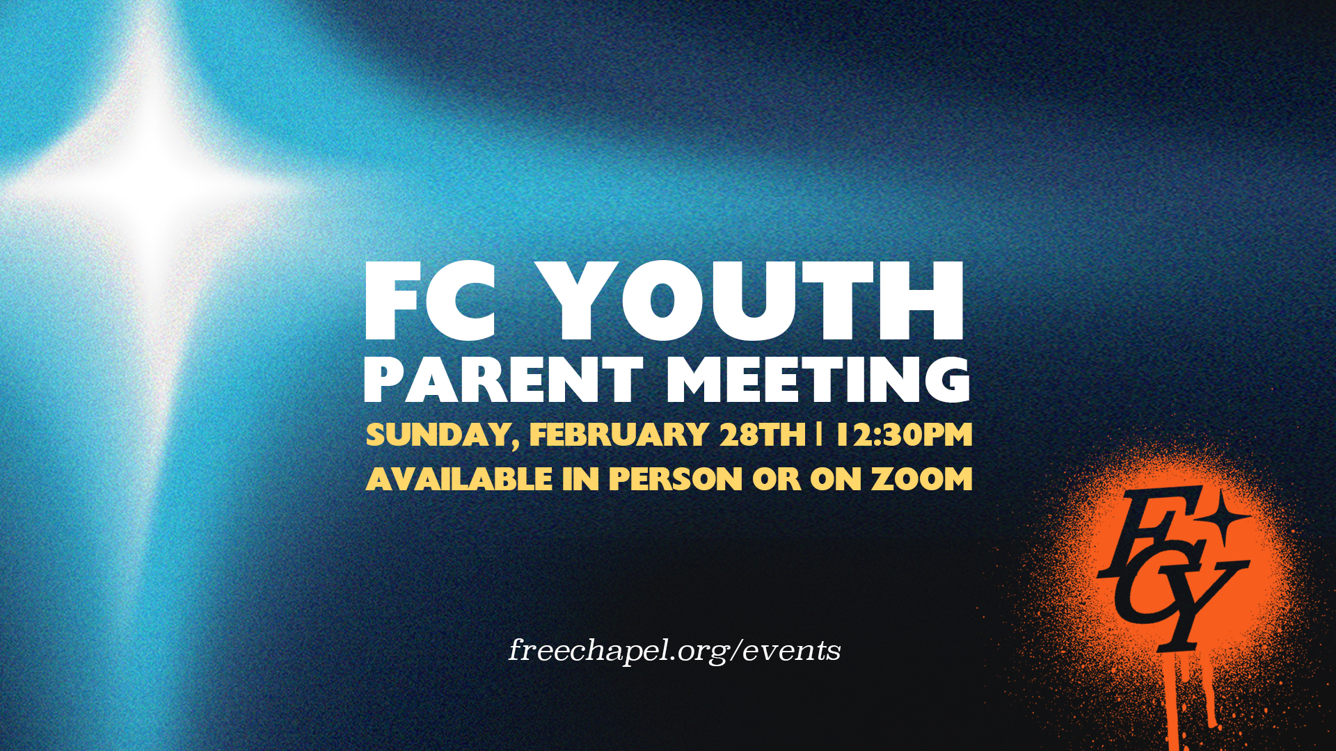 FC Youth Parent Meeting at the Cumming campus
