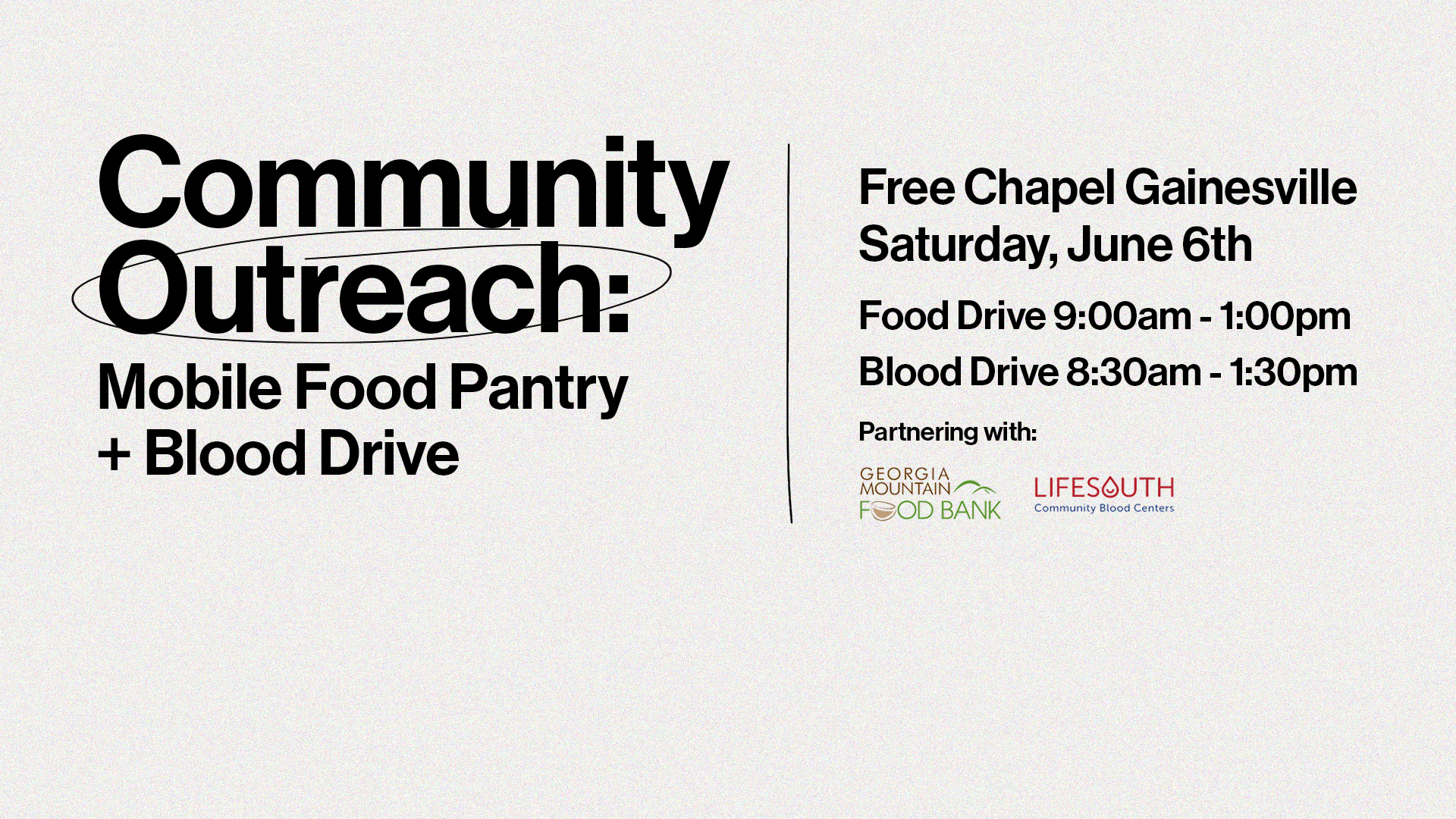 Mobile Food Pantry + Blood Drive at the Gwinnett campus