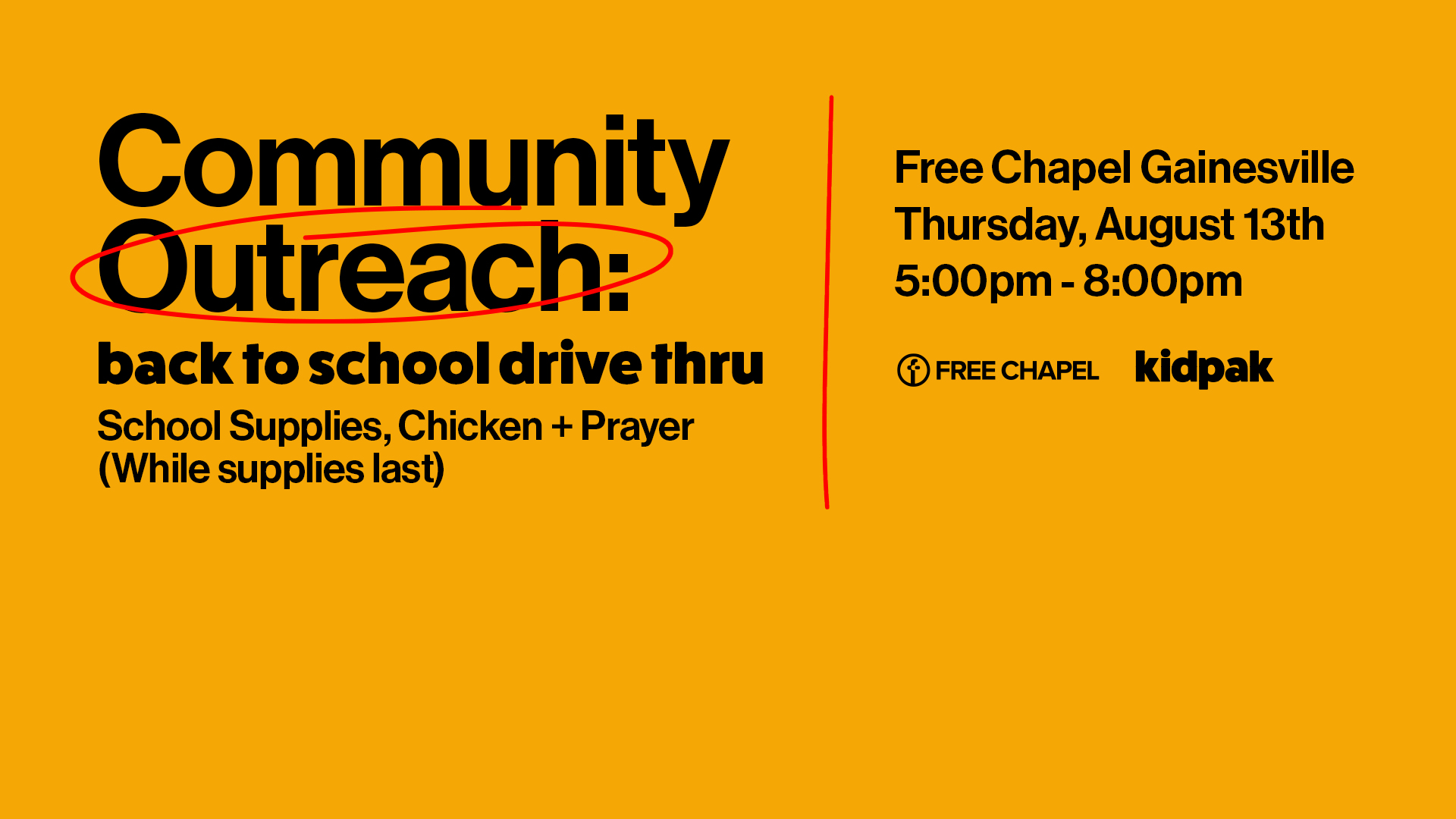 Back to School Drive Thru at the Gainesville campus