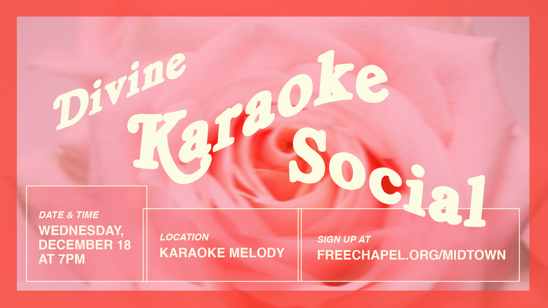 Divine Karaoke Social at the Midtown campus