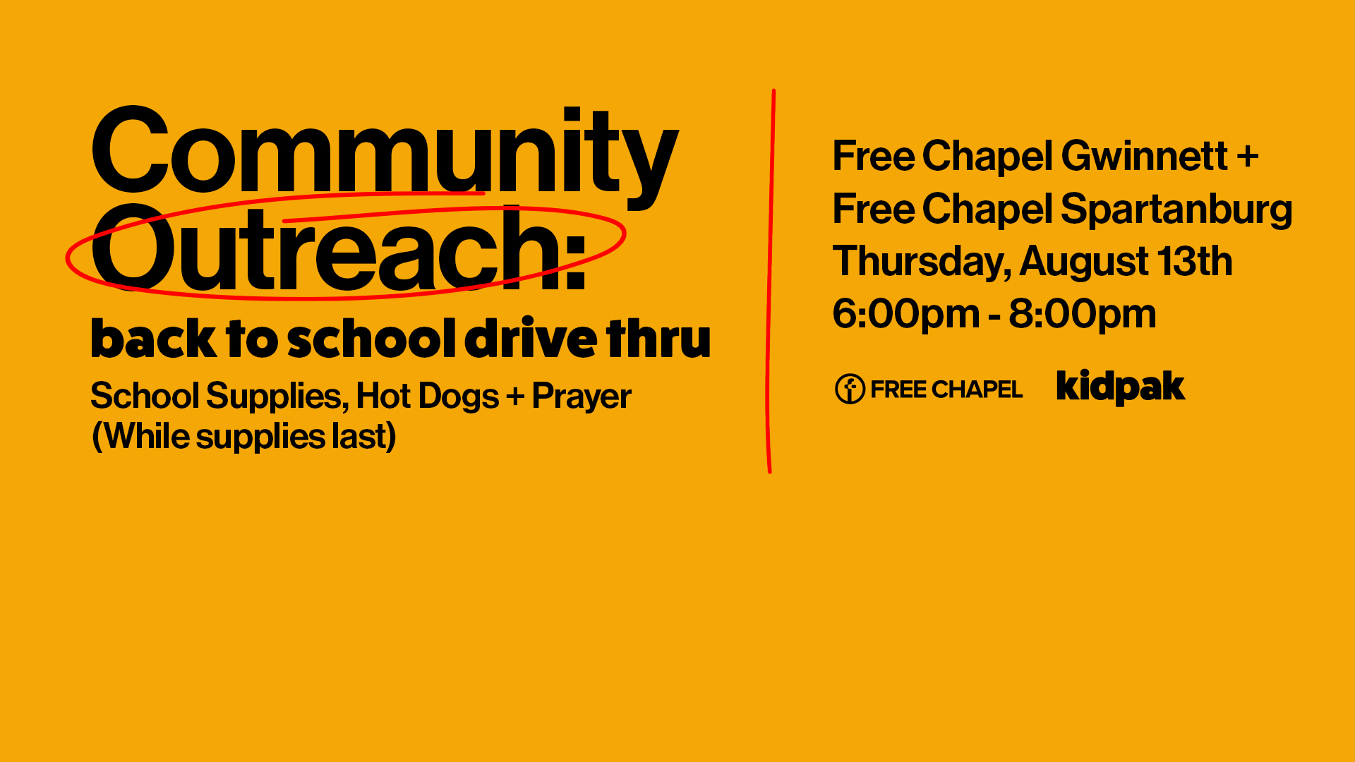Back to School Drive Thru at the Spartanburg campus