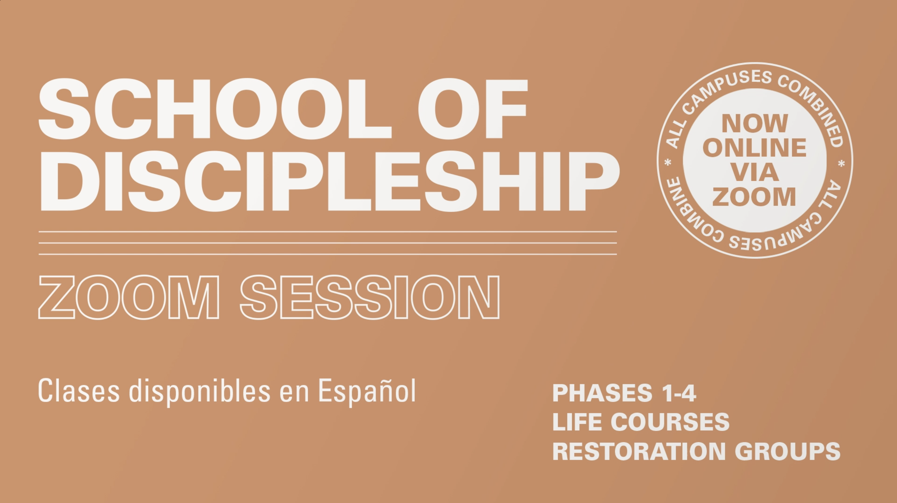 School of Discipleship at the Spartanburg campus