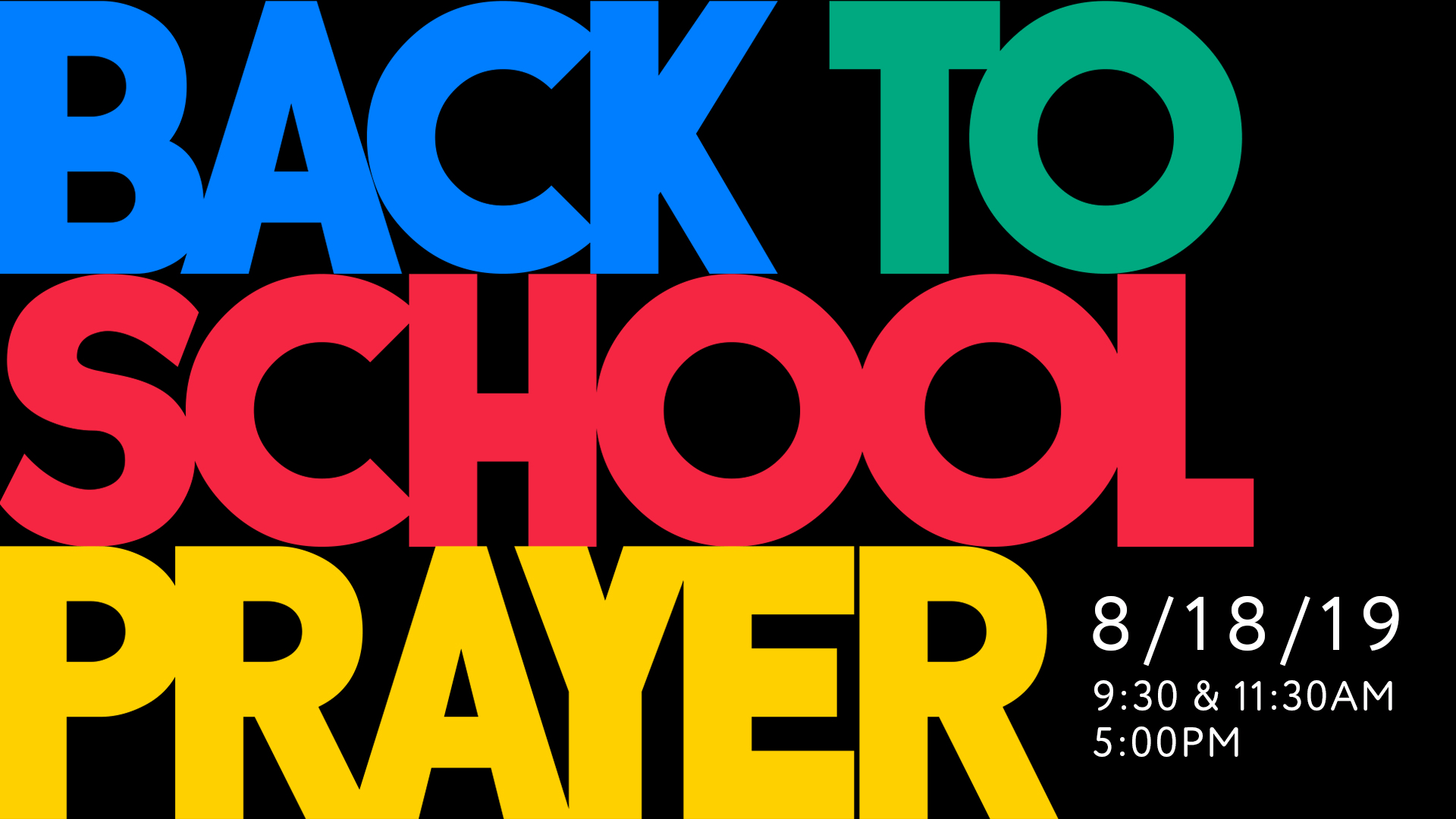Back to School Prayer at the Orange County campus