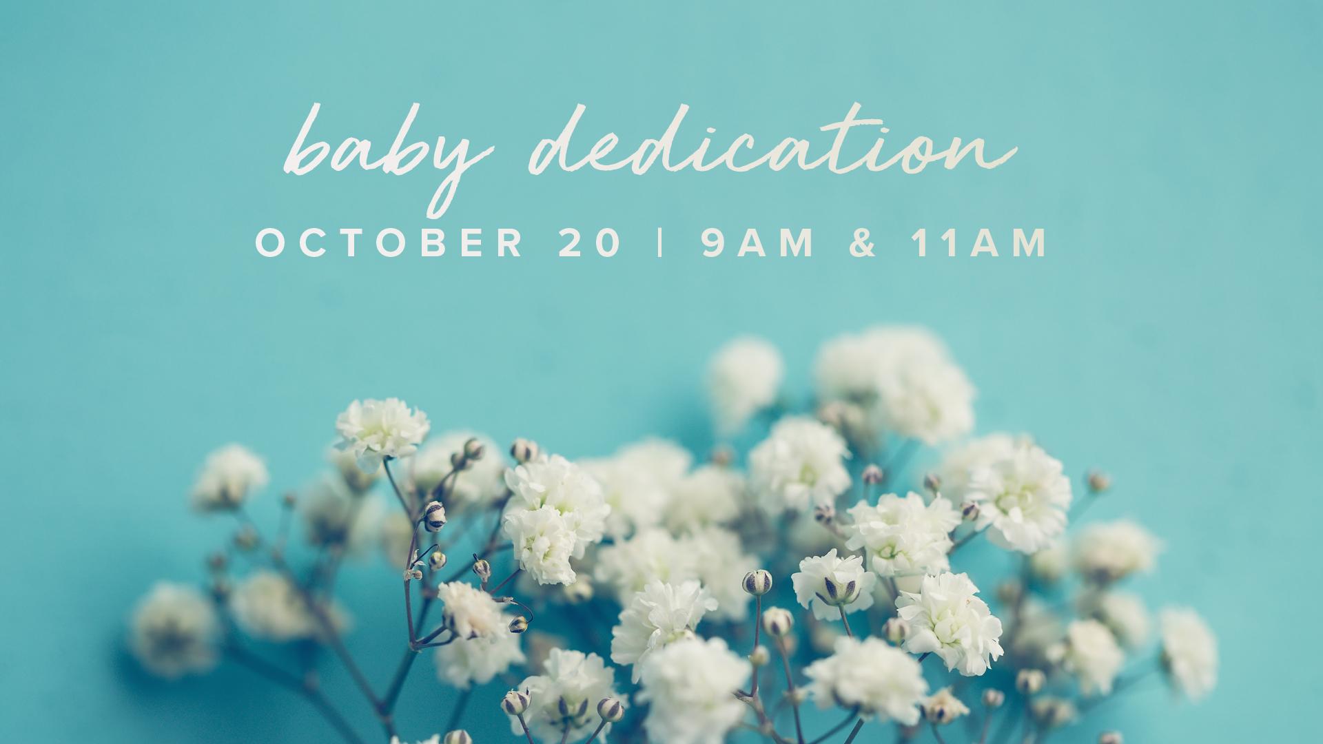 Baby Dedications at the Buford campus